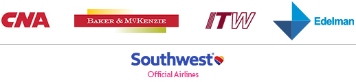 SPONSORS: CNA, Baker and McKenzie, ITW, Edelman, Southwest (Official Airlines)