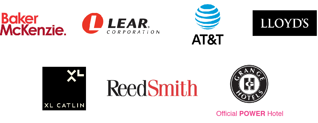 CMS, ITW, Lear, Baker and McKenzie, AT&T, LLOYD's